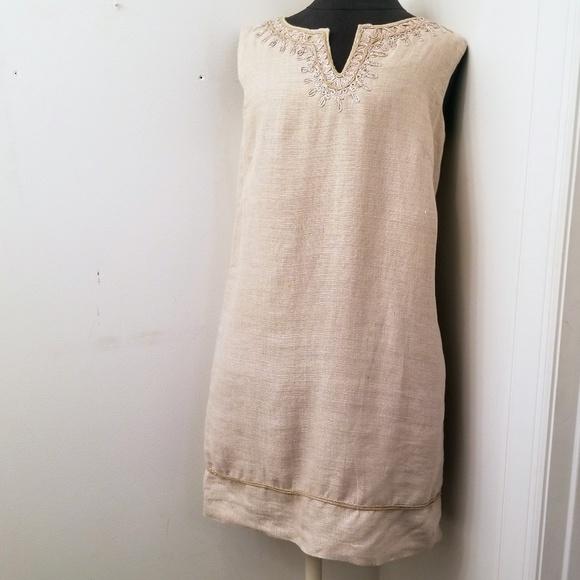 LOFT Dresses & Skirts - LOFT Linen Sleeveless Shift Dress Size 8